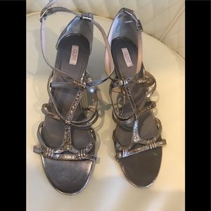 Glint Silver Wedge Shoes